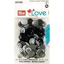 Prym 393003 Color snaps Prym Love Druckknopf Color KST 12,4mm hellgrau/dunkelgrau/schwarz ***BITTE PRODUKTBESCHREIBUNG BEACHTEN***