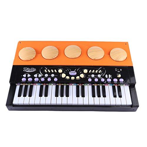 YAKOK Keyboard Kinder, 37 Tasten Mini Holz Elektronik Klavier e Piano Keyboard Kinder mit Mikrofon...