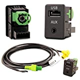 Adapter-Universe USB + AUX Anschluss Einbau Stecker Kabel SET fürs VW Auto Radio RCD510 / RCD310 / RCD300 / RNS315/ NAV231/ 268MF - Adapter Dose