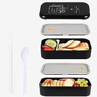 MEIXI Boîte Bento Enfant & Adulte  Bento Box Lunch Box   2 Couverts Solides   1100ml   Hermétique   Passe Au Micro-Ondes…