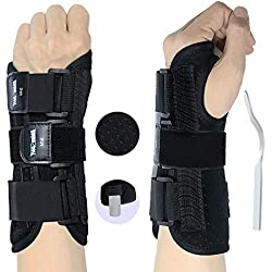 RHINOSPORT Handgelenkbandage Handgelenkstütze Handgelenkschiene, Schutzfunktion Schmerzlinderung und die Stabilität unterstützen, behilflich für Männer und Frauen (Linke, M/L)
