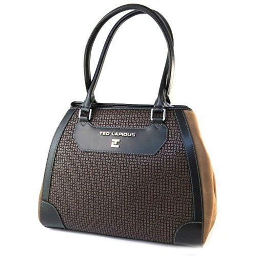 Bag 'Ted Lapidus'marrone talpa - 35x29x14 cm.