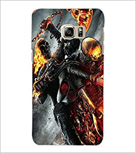 PrintDhaba Ghost Rider D-2172 Back Case Cover for SAMSUNG GALAXY NOTE 5 EDGE (Multi-Coloured)