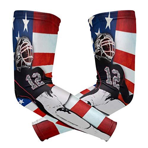 FANTAZIO Armmanschette Ellenbogenmanschetten American_Football UV Sonnenschutz Kühlarm Ellenbogen-Kompression