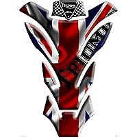 Motoking tanque pad compatible ETIQUETAS 3D-ETIQUETA' ' Triumph Reino Unido se bandera de Union Jack ' '- tanque de la motocicleta y la protección de la pintura universal