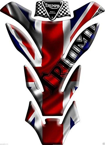 Tankpad Motorad Draht Muster Tankschutz ' Triumph Tankschutz U.K. Union Jack-Flagge'' Polymer 3D