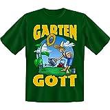 spaßiges Sprüche Tshirt Garten-Gott Gr XXL Fb grün