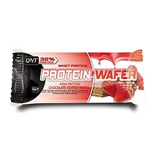 Preisvergleich Produktbild QNT 32% Protein Wafer 35g Rote Früchte; 12 Riegel