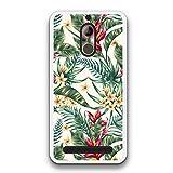 FidelStick für ZTE Nubia N1 Lite Silikon Hülle, Flexible Gel Schutzhülle Silikon Gefertigt, Tropische Blumen der Aquarellart