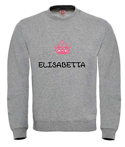 Felpa Elisabetta - Print Your Name Black
