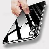 iPhone X Hülle, KKtick Silikon Schutzhülle iPhone X Handyhülle Kratzfest Plating Bumper Case Ultra Slim TPU Hülle Flexibel Gel Hülle Rutschfeste Tasche Schutzhülle für iPhone X Case Cover - Transparent