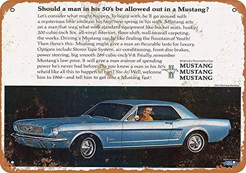 Wise Degree Metal Poster 1966 Ford Mustang Hardtop Wand K¨¹Che Kunst Cafe Garage Shop Bar Dekoration Mustangs Wc