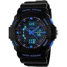 Skmei 0955 japanese-quartz 50 M impermeable multifuncional reloj de pulsera deportivo para hombres y