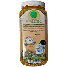 NEU 1500g Premium-Popcorn-Mais. Mit Geschmack SÜSS ohne Gentechnik - 100 % Natur - Speziell für Heißluftautomaten entwickelt - Zubereitung ohne Fett und Zucker