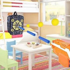 Target Pouch Aufbewahrungstasche Carry Rucksack – Portable Lightweight Target Pouch Rucksack Ausrüstung Carry Aufbewahrungstasche Racksacks für Nerf Gun N-Streik Elite/Mega/Rival-Serie