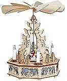 yanka-style Elektrisch angetriebene Weihnachts - / Advents - Pyramide Winterkinder ca. 32 cm hoch mit Beleuchtung Geschenk für Weihnachten Advent Dekoration (60742)
