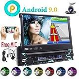 Universale singolo 1 DIN Android 9.0 Quad Core 7 pollici in-dash lettore DVD GPS di navigazione motorizzato staccabile multi-touch screen autoradio supporto Bluetooth USB SD Wifi OBD DAB+