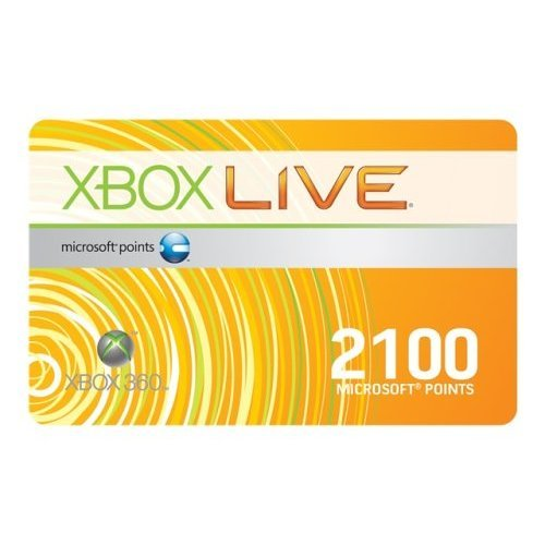 Xbox 360 - Live Points Card 2100