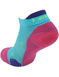 Pair Karrimor Womens Running Trainer Ankle Socks Ladies Size 4-8 x 11 Colours (Turquoise/Fusch)
