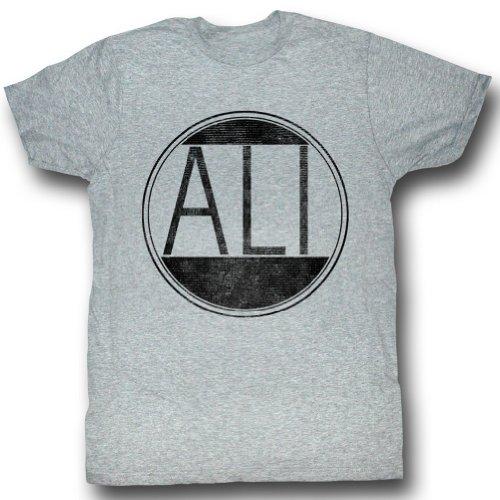 Muhammad Ali - Herren Ali Circle T-Shirt In Gray Heather Gray Heather
