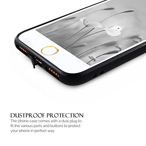 iPhone 7 Hülle, iPhone 7 Silikon Schutzhülle, Anfire Candy Handy Case Hülle für Apple iPhone 7 (4.7 Zoll) Liebe Herz Muster Weich TPU Silikon Schutzhülle Schön Muster Schale Tasche Ultradünnen Etui An Schwarz