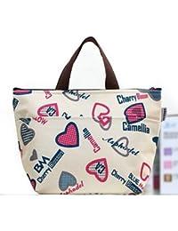 EQLEF® térmica bolso más fresco almuerzo bolsa de transporte, bolsa de picnic, bolso (amor)