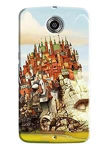 Blue Throat City Made On Rocks Printed Designer Back Cover For Motorola Google Nexus 6