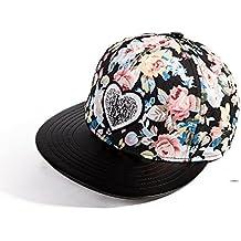 Sombreros mujer/Sombrero de ala plana del amor de verano/Gorra de béisbol/Street Dance/Hip-hop gorra/Visera