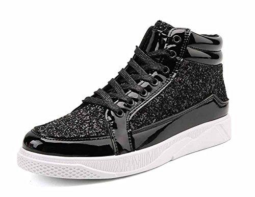 Hommes Brevets En Cuir Baskets 2017 Nouvelles Chaussures Plates Haut Haut Respirant Chaussures De Planche À Roulettes Chaussures Légères