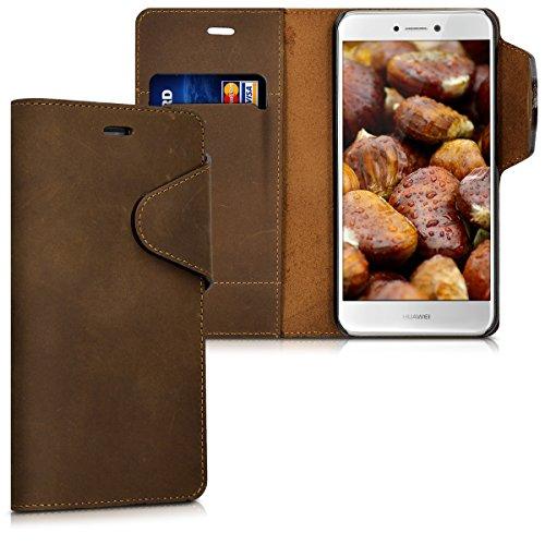 kalibri-Echtleder-Wallet-Hlle-fr-Huawei-P8-Lite-Version-2017-Case-mit-Fach-und-Stnder-in-Braun