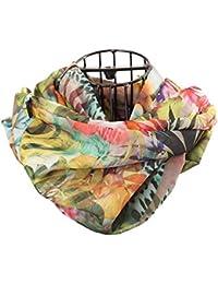 brit-M Women's Scarf multi-coloured Dunkel mit farbigen Symbolen One size