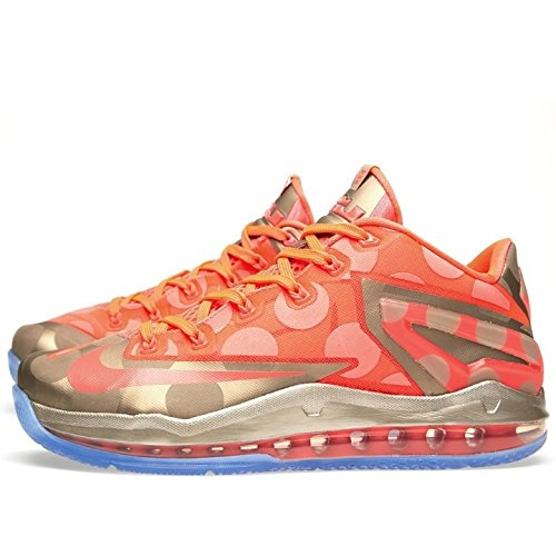 Max Lebron Xi Low Collection Sport Entraîneur Chaussures metallic zinc, hyper punch-ice