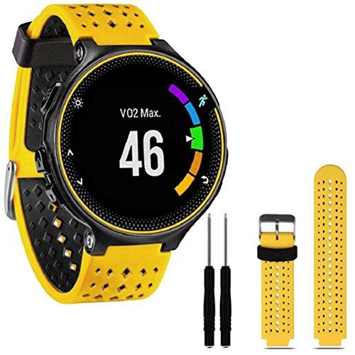 für Garmin Forerunner 230/235/630,Culater Luxus Bunte Cool Weichem Silikon Ersatz Handgelenk Uhrenarmband Riemen (Gelb)