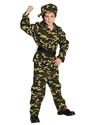 Set Soldat Kostüm (Kämpfer Soldat Kinderkostüm 4-tlg. Set)