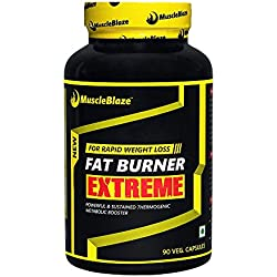 MuscleBlaze Fat Burner Extreme, 90 Veggie Capsules