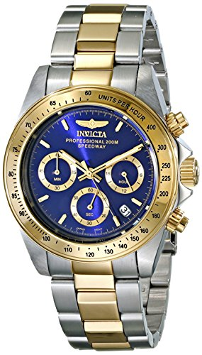 Invicta Speedway - 3644 Orologio da Polso, Cronografo, Uomo, Cinturino Acciaio Inossidabile, Oro