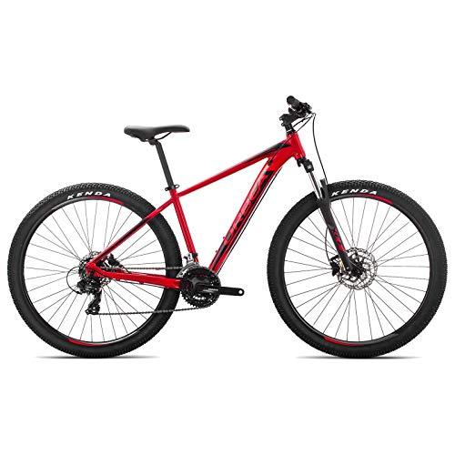 ORBEA MX 60 XL 29 Zoll MTB Fahrrad 21 Gang Rad Aluminium Mountain Bike Herren Damen, J20621, Farbe Rot Schwarz (Mountain Bike 29 Zoll Shimano)