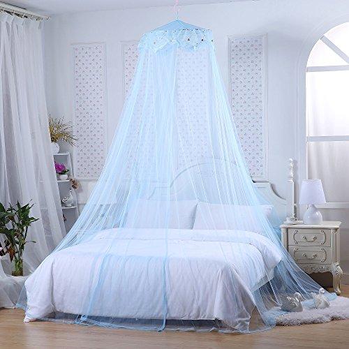Foto de Mosquitera de cama Jeteven, diseño de princesa, encaje, perfecta para habitaciones infantiles, uso interior y exterior, decorativa, altura de 240 cm