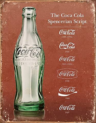 Tin Sign Tin Signs Coke Script Heritage