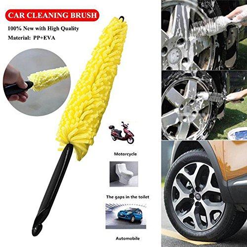 Rondella auto microfibra spazzola di pulizia per auto per ruote bicicletta Cleaner Tool