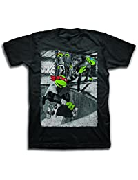 Teenage Mutant Ninja Turtles Street Skaters Herren Schwarz T-Shirt
