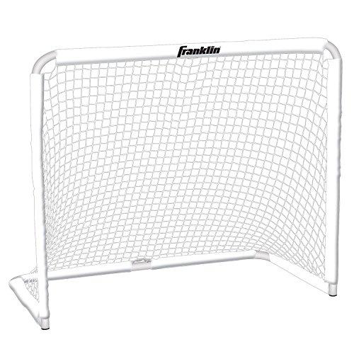 Franklin Multi-Sport-Tor – Stabiles Outdoor-/Indoor-Tor zum Fußballspielen I ideal für Straßenhockey, Feldhockey, Lacrosse I schnelles Zusammenbauen I Sport & Freizeit I Weiß – 127 x 66 x 107 cm