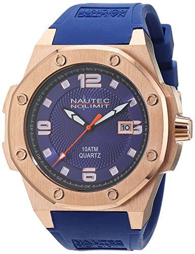 No limit Nautec hombre-reloj analógico de cuarzo de caucho Sailfish SF-QZ2-RBRGRGBL