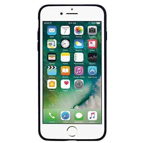 Apple iPhone 7 Plus Hülle, Voguecase Silikon Schutzhülle / Case / Cover / Hülle / TPU Gel Skin für Apple iPhone 7 Plus/iPhone 8 Plus 5.5(Regenbogen-Einhorn/Blau) + Gratis Universal Eingabestift Regenbogen-Einhorn/Schwarz