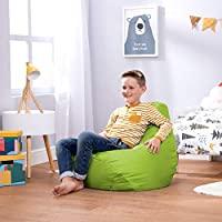 Bean Bag Bazaar, Lime Green, Kids Gaming Chair, Large, 69cm x 59cm-Indoor Outdoor Bean Bags for Children, 1 Pack