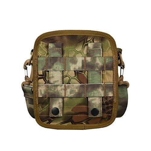 Yy.f Outdoor-Sport Militär-Fans Messenger Tarnung Tote 1000D Dura Test Wasserdicht Kratz Paket A