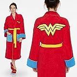 vestaglia wonder woman vestaglia da camera TAGLIA UNICA con logo supereroe fronte e schiena tasche frontali vestaglia casa unisex sopra il pigiama