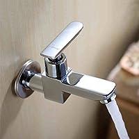 Lingyun Robinet- Place Mop Piscine robinet dans le mur d'une salle de bains froide Robinet 4 Points rapide Tap d'ouverture