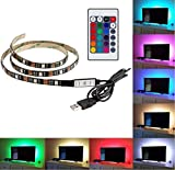 LED TV Backlight con imán, Carryme Color cambiando 100 cm 60 LED 5V - Best Reviews Guide
