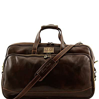 830654 - TUSCANY LEATHER: Bora Bora - Trolley leather bag - Small size, dark brown